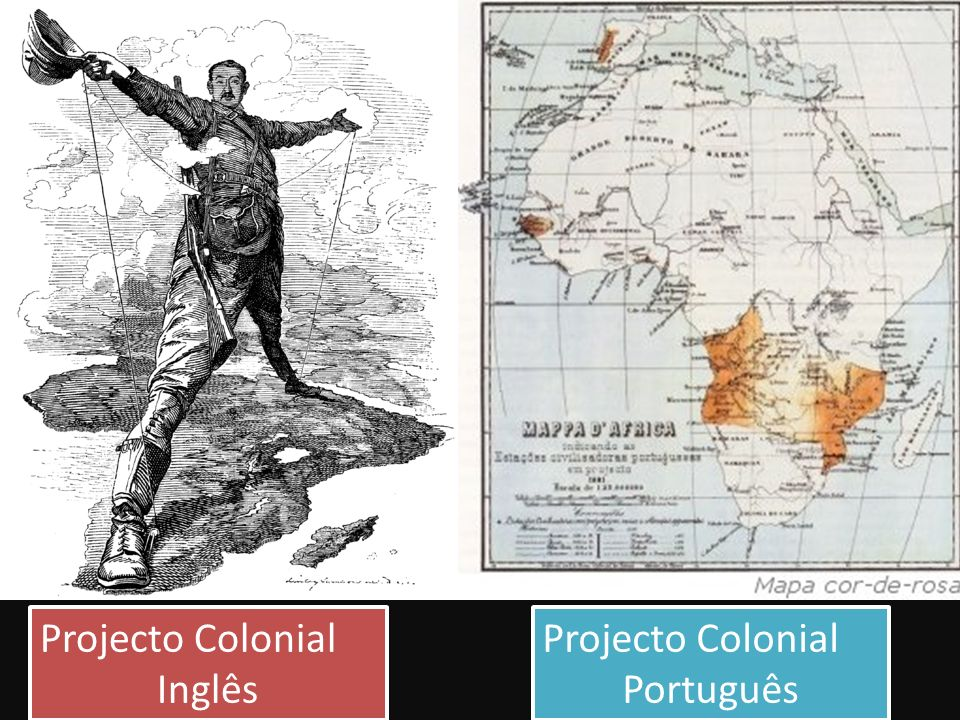 Projecto Colonial Inglês Projecto Colonial Inglês Projecto Colonial Português Projecto Colonial Português