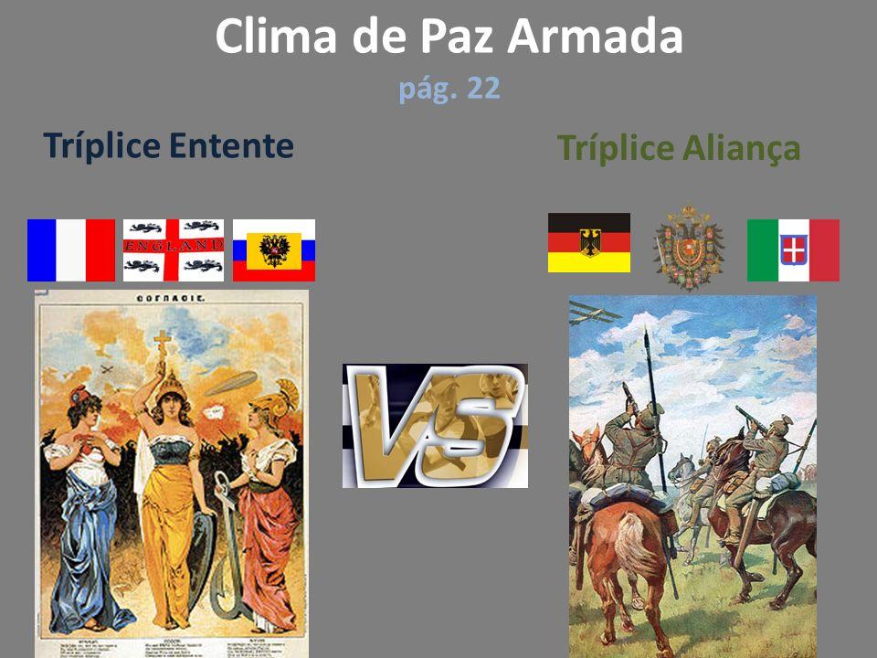Clima de Paz Armada pág. 22 Tríplice Entente Tríplice Aliança