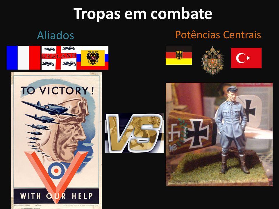 Tropas em combate Aliados Potências Centrais