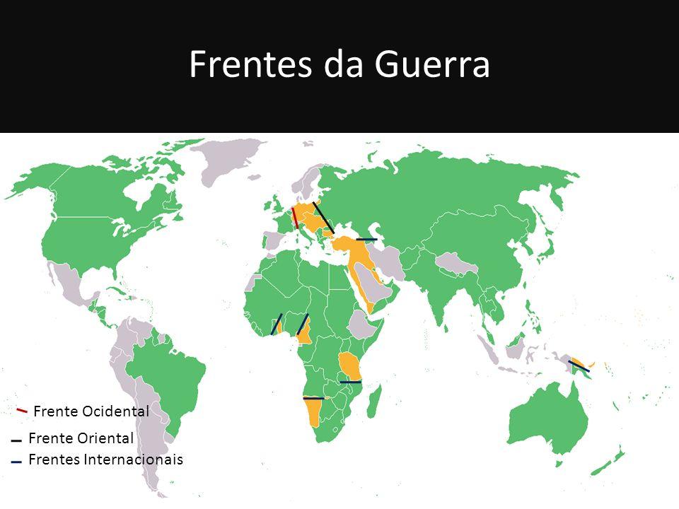 Frentes da Guerra Frente Ocidental Frente Oriental Frentes Internacionais