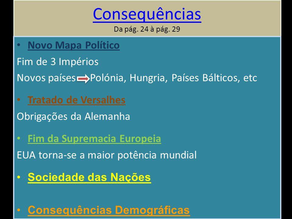 Consequências Consequências Da pág.24 à pág.