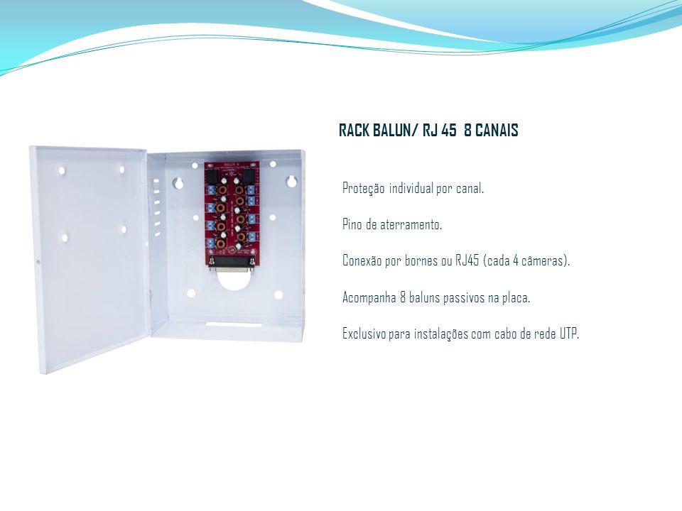 RACK BALUN/ RJ 45 8 CANAIS Proteção individual por canal.