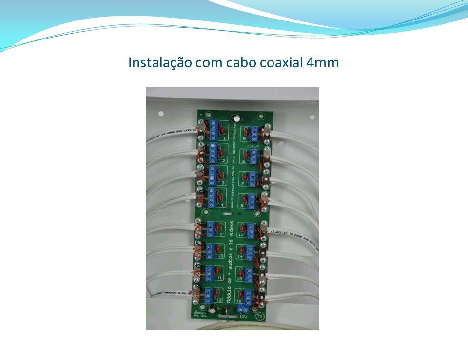 Instalação com cabo coaxial 4mm