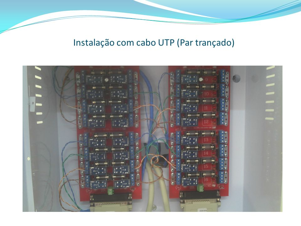 Instalação com cabo UTP (Par trançado)