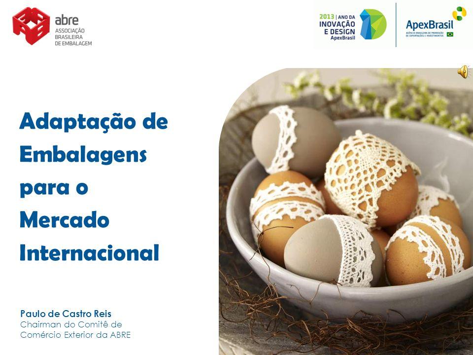 Adaptação de Embalagens para o Mercado Internacional Paulo de Castro Reis Chairman do Comitê de Comércio Exterior da ABRE 1
