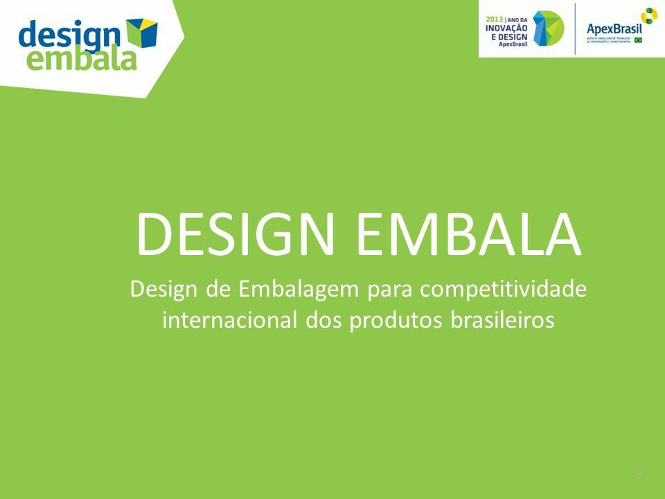 DESIGN EMBALA Design de Embalagem para competitividade internacional dos produtos brasileiros 7