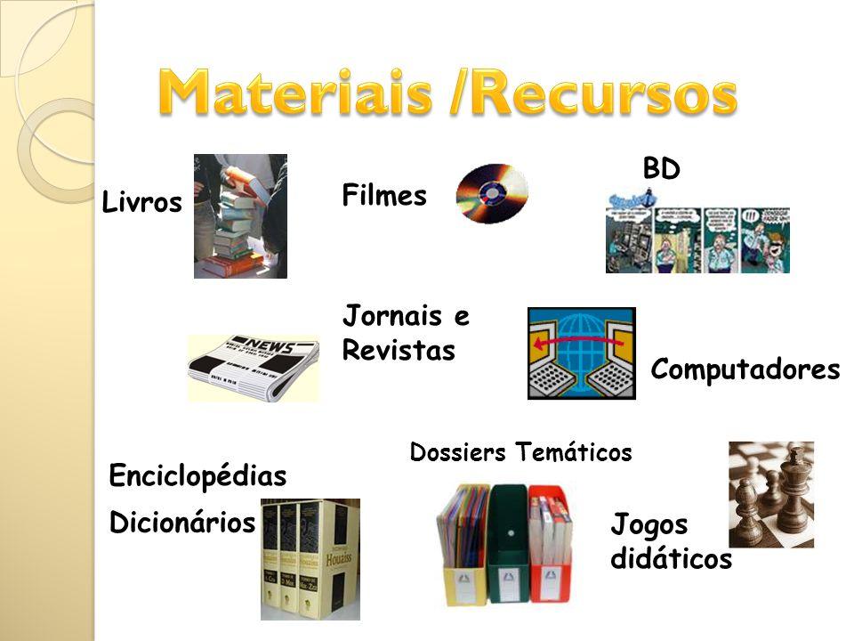 Os nossos recursos Livros – 10568 (excluindo manuais) Jornais Diários – O Público e A Bola Revistas – cerca de 25 DVD – 732 CD audio – 170 Videos – cerca de 500 CD-rom – 174 Jogos / Puzzles – 110 + de 11 500 documentos