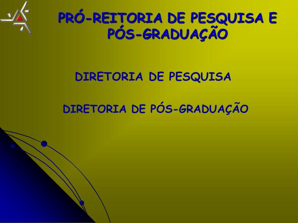 PRÓ-REITORIA DE PESQUISA E PÓS-GRADUAÇÃO DIRETORIA DE PESQUISA DIRETORIA DE PÓS-GRADUAÇÃO