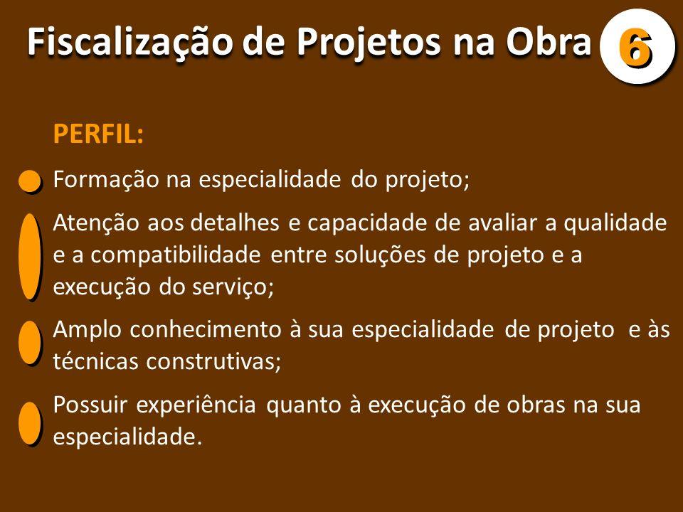 PERFIL: Formação na especialidade do projeto; Atenção aos detalhes e capacidade de avaliar a qualidade e a compatibilidade entre soluções de projeto e