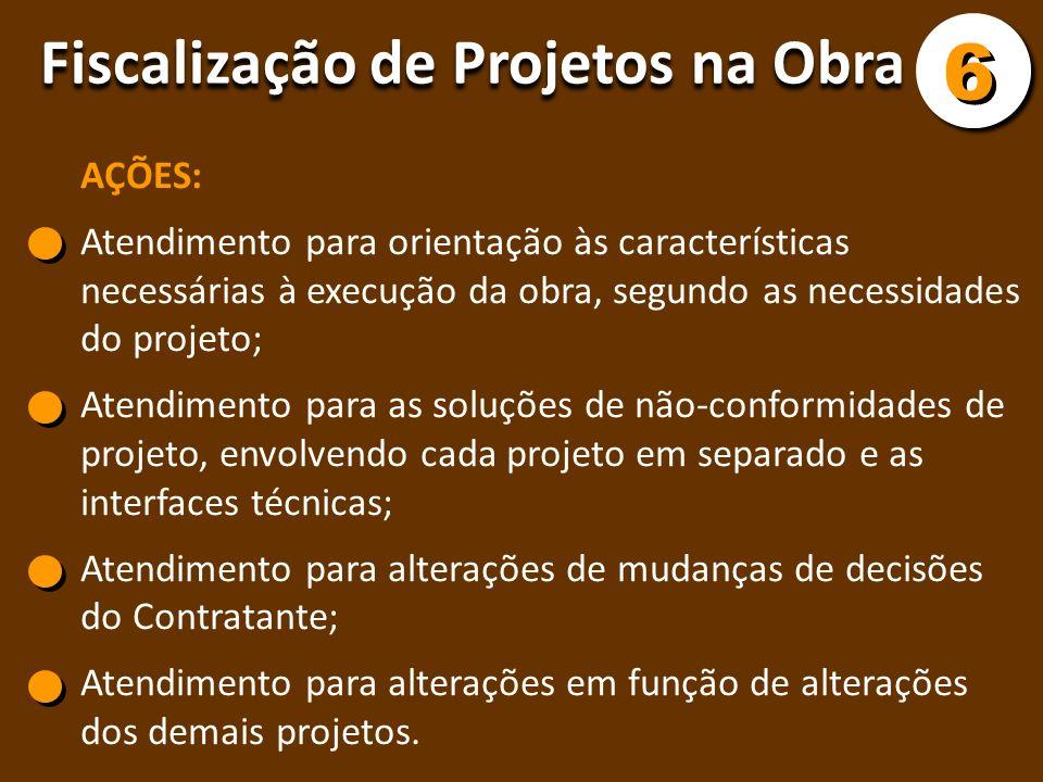 AÇÕES: Atendimento para orientação às características necessárias à execução da obra, segundo as necessidades do projeto; Atendimento para as soluções