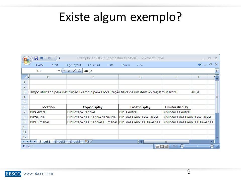 www.ebsco.com Existe algum exemplo 9