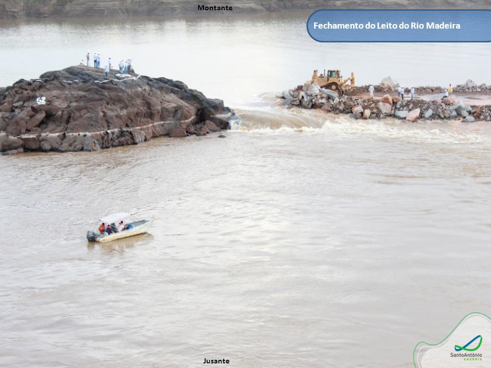 Fechamento do Leito do Rio Madeira Montante Jusante