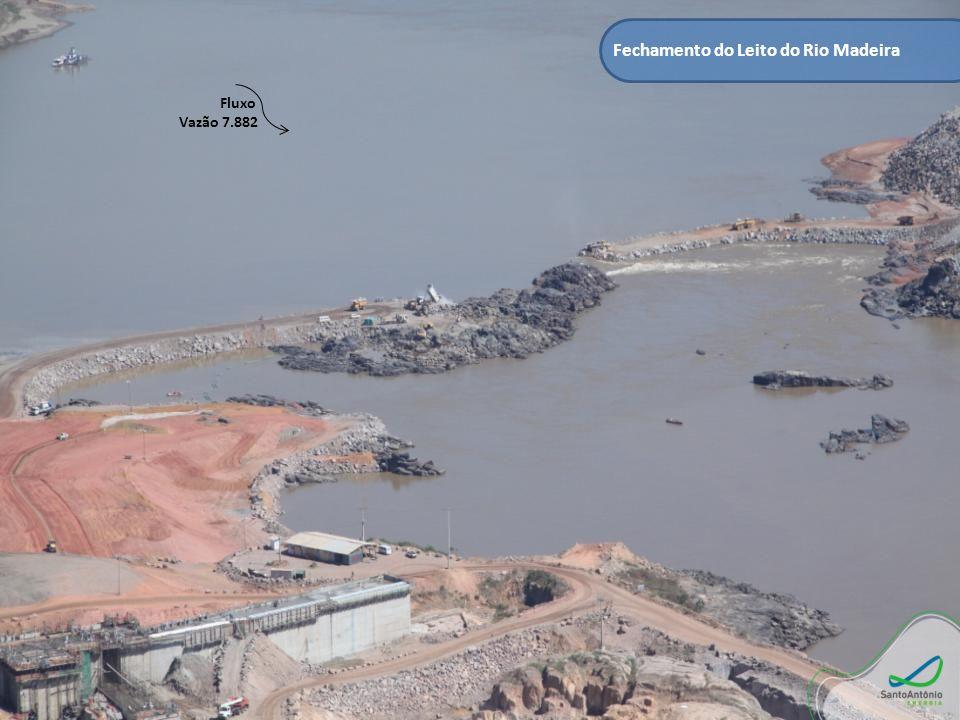 Fechamento do Leito do Rio Madeira Fluxo Vazão 7.882