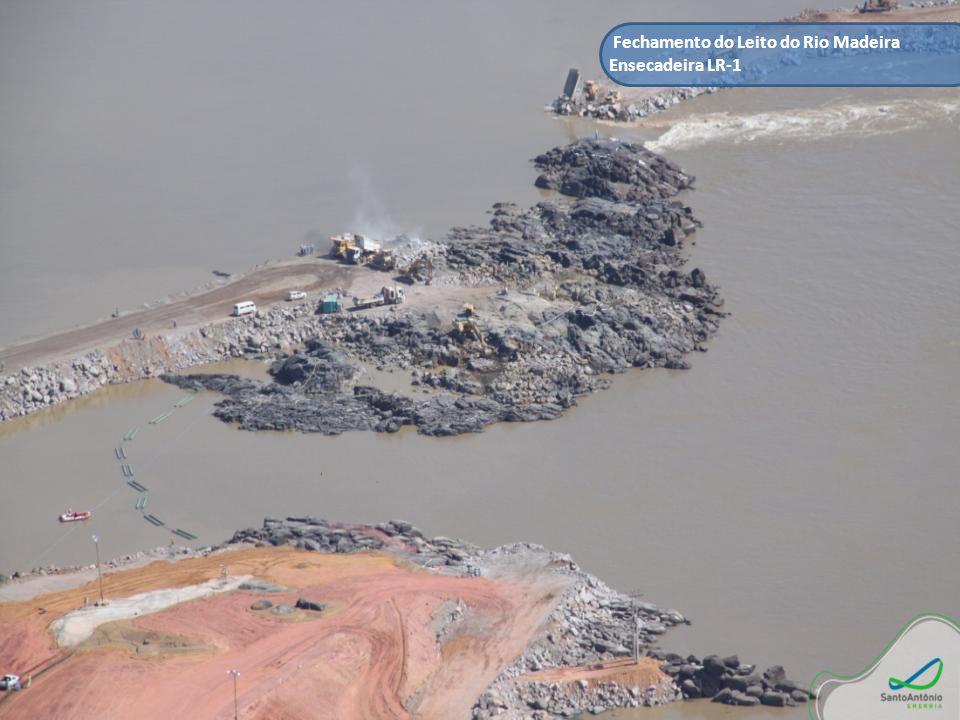 Conclusão do Cordão de Enrocamento para Fechamento do Leito do Rio