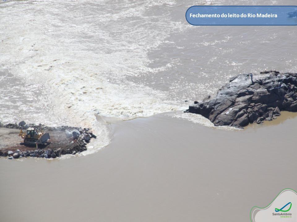 Fechamento do leito do Rio Madeira