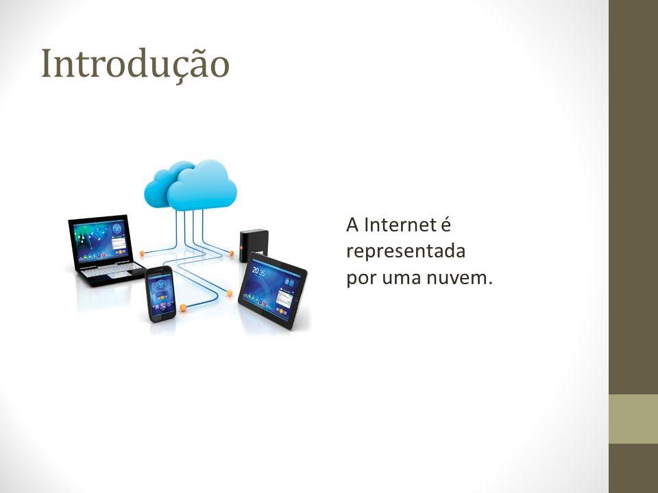Introdução A Internet é representada por uma nuvem.