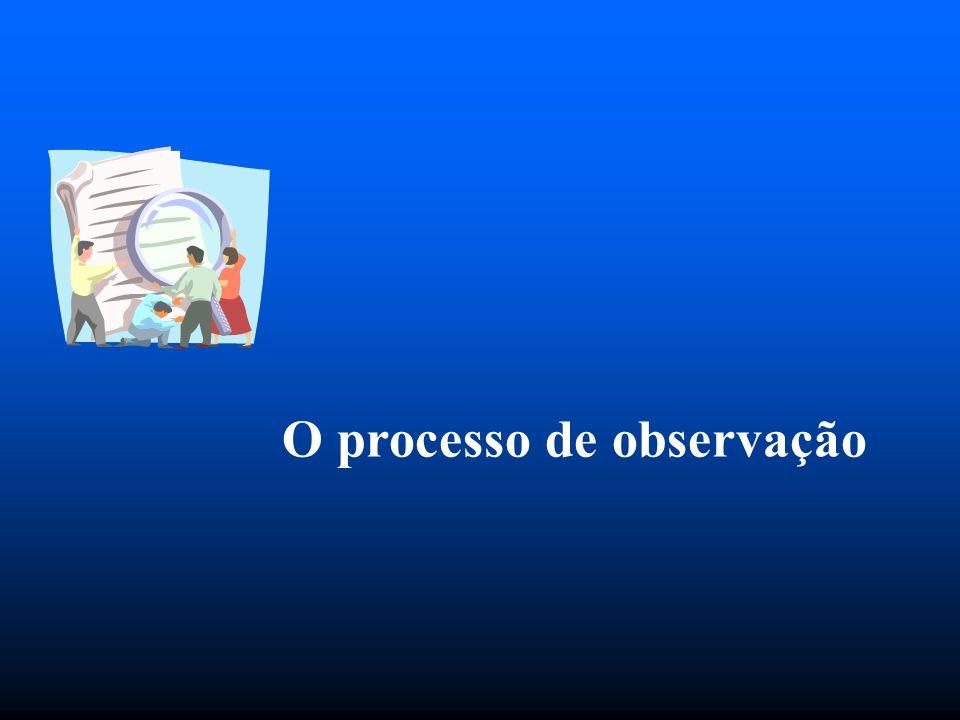 O processo de observação