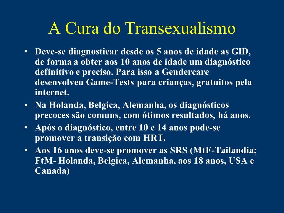 A Cura do Transexualismo Deve-se diagnosticar desde os 5 anos de idade as GID, de forma a obter aos 10 anos de idade um diagnóstico definitivo e preci