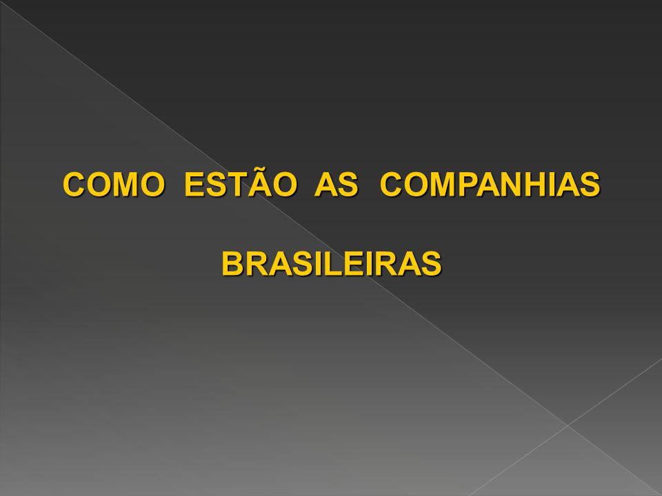 COMO ESTÃO AS COMPANHIAS BRASILEIRAS