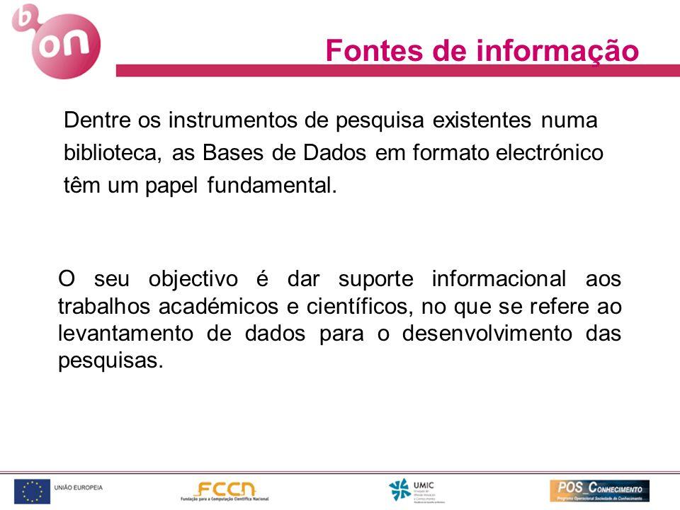 Dentre os instrumentos de pesquisa existentes numa biblioteca, as Bases de Dados em formato electrónico têm um papel fundamental. O seu objectivo é da