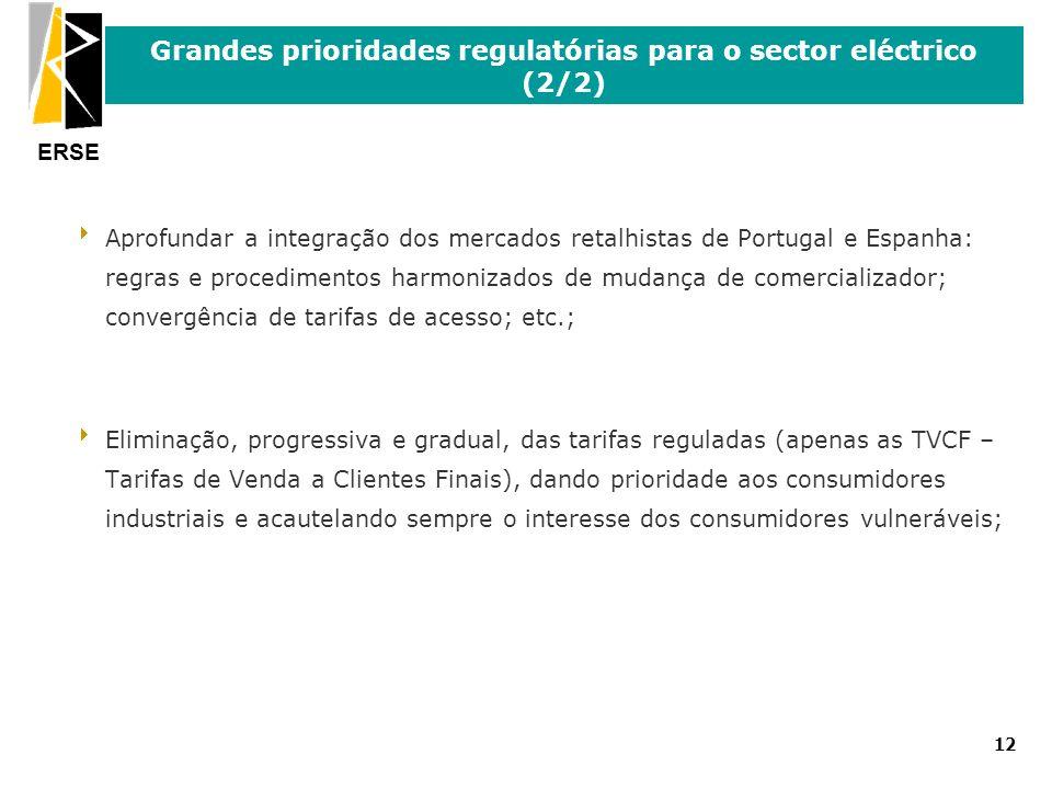ERSE 12 Aprofundar a integração dos mercados retalhistas de Portugal e Espanha: regras e procedimentos harmonizados de mudança de comercializador; con