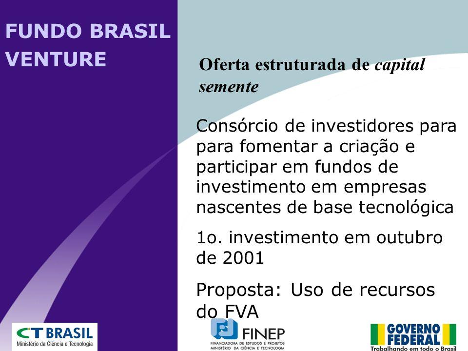 Consórcio de investidores para para fomentar a criação e participar em fundos de investimento em empresas nascentes de base tecnológica 1o. investimen