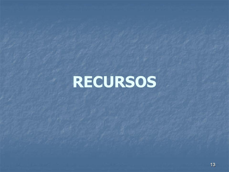 13 RECURSOS