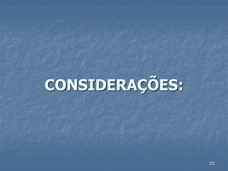23 CONSIDERAÇÕES: