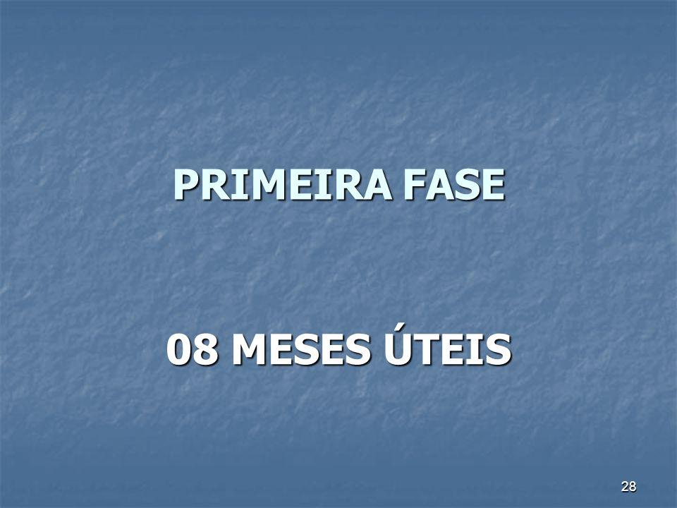 28 PRIMEIRA FASE 08 MESES ÚTEIS