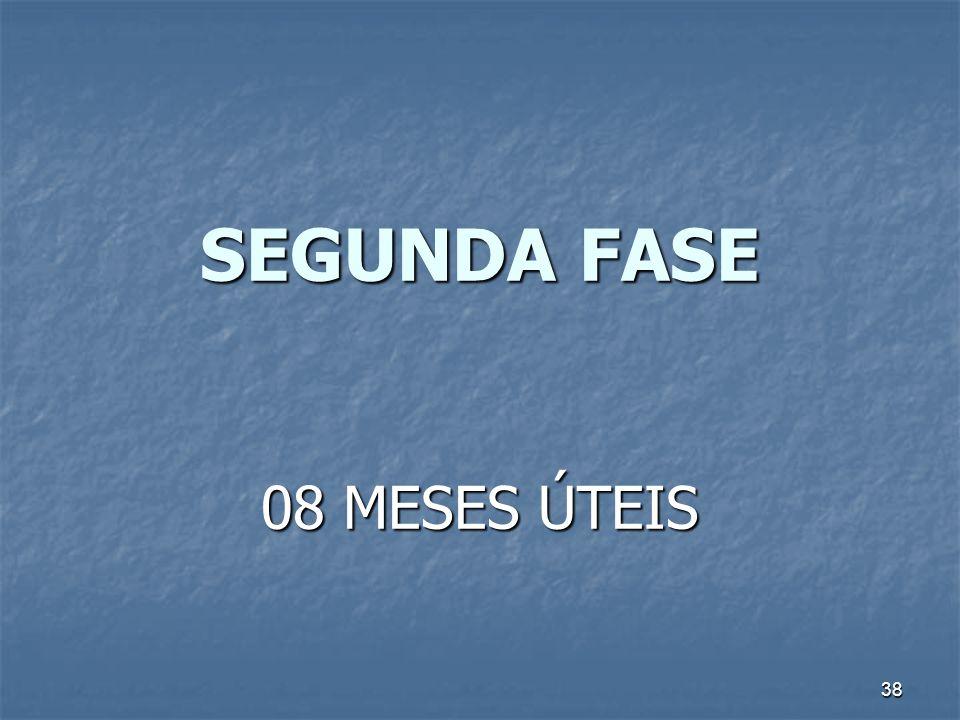 38 SEGUNDA FASE 08 MESES ÚTEIS