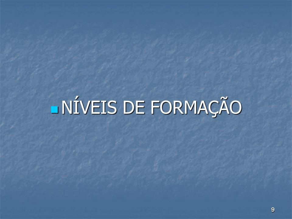 9 NÍVEIS DE FORMAÇÃO NÍVEIS DE FORMAÇÃO