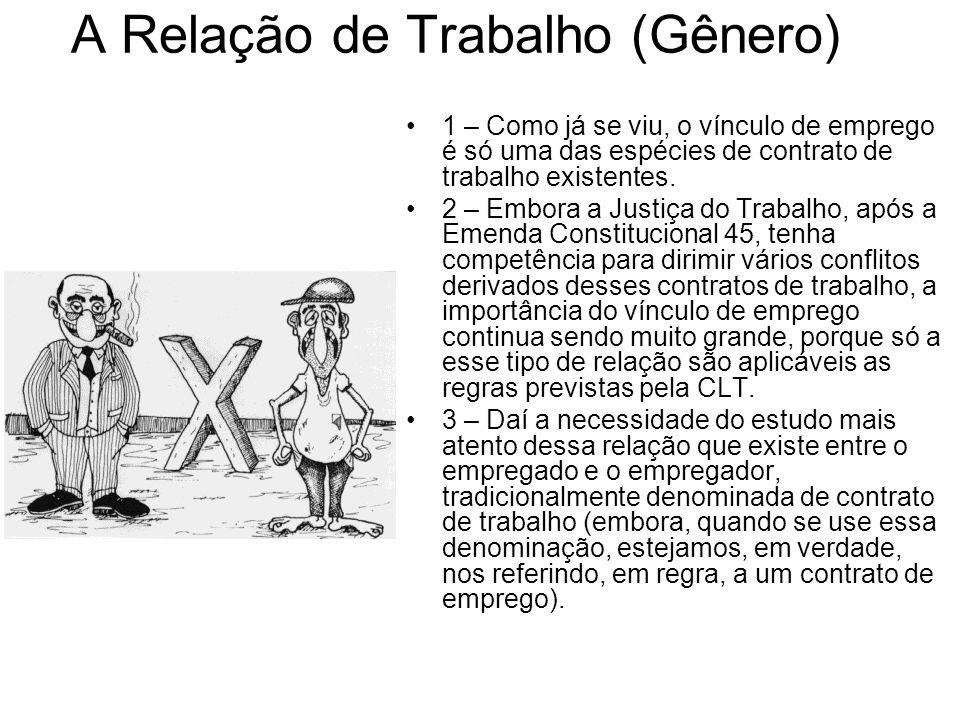 A Regra Trabalhista 1) No universo trabalhista a regra seria a constatação da nulidade, mas o reconhecimento dos efeitos do contrato.