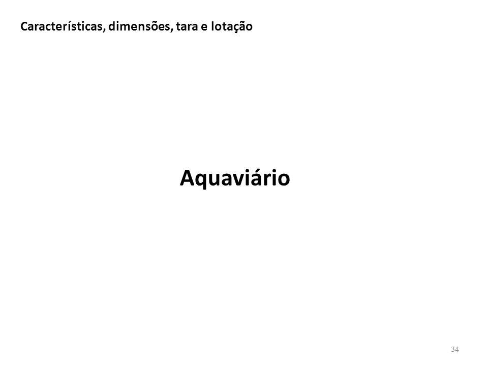 Características, dimensões, tara e lotação 34 Aquaviário