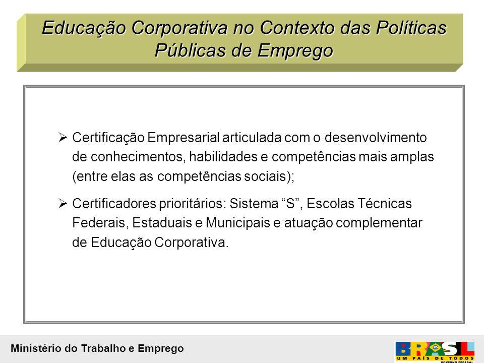 Certificação Empresarial articulada com o desenvolvimento de conhecimentos, habilidades e competências mais amplas (entre elas as competências sociais