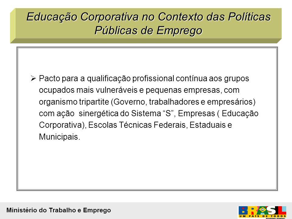 Pacto para a qualificação profissional contínua aos grupos ocupados mais vulneráveis e pequenas empresas, com organismo tripartite (Governo, trabalhad