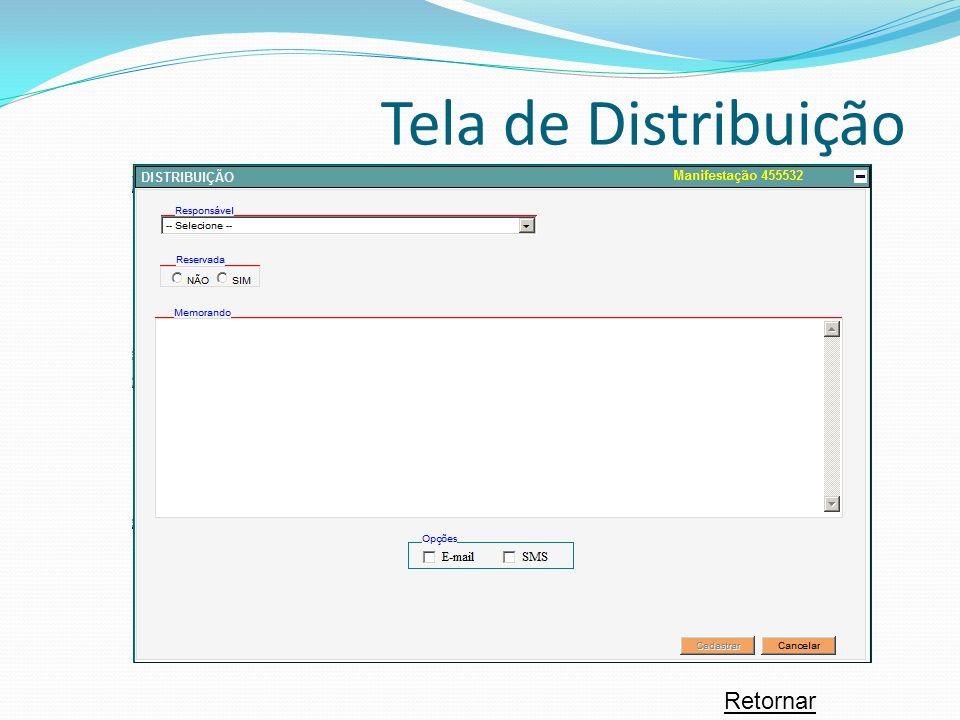 Retornar Tela de Distribuição