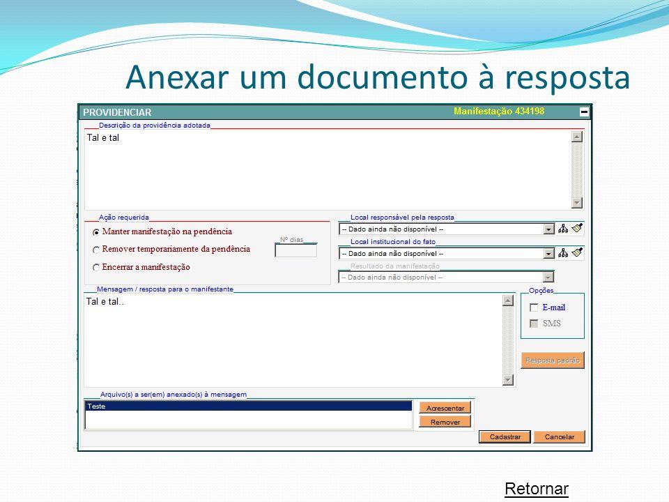 Retornar Anexar um documento à resposta