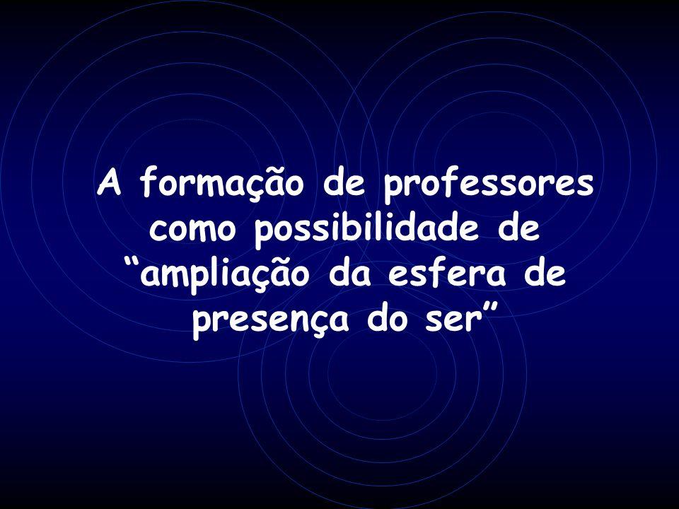 A formação de professores como possibilidade de ampliação da esfera de presença do ser