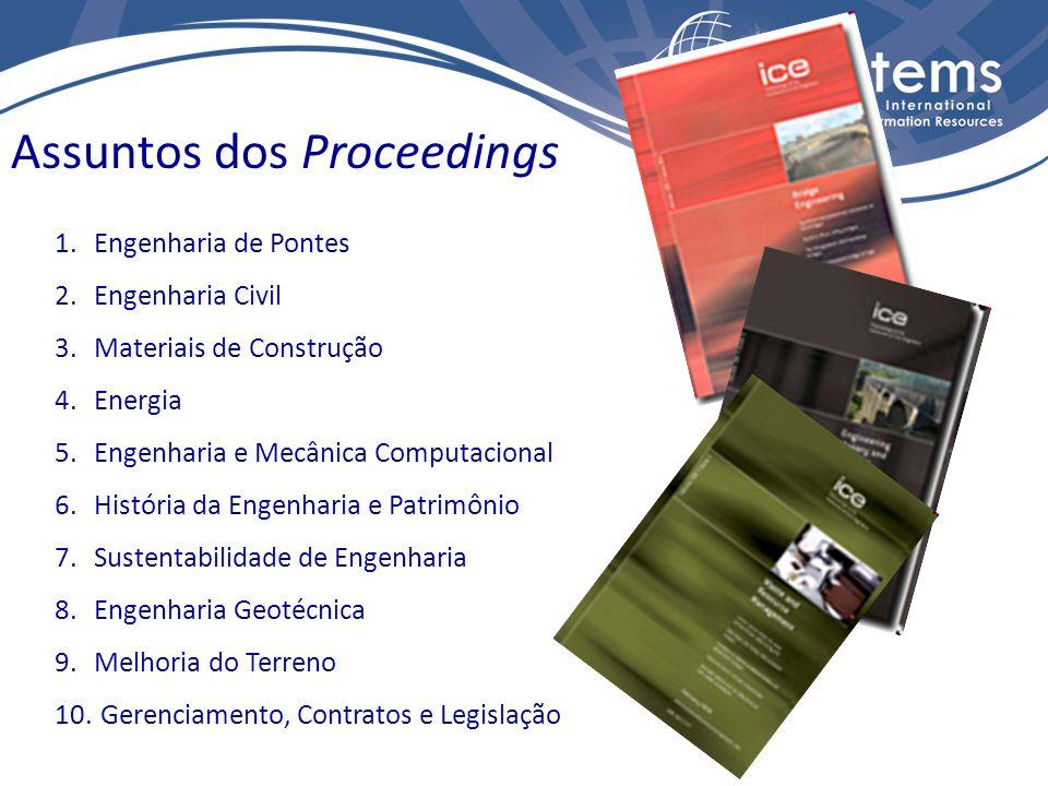 11.Engenharia Marítima 12. Engenharia Municipal 13.