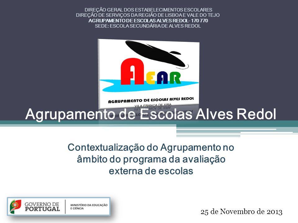 Agrupamento de Escolas Alves Redol Contextualização do Agrupamento no âmbito do programa da avaliação externa de escolas DIREÇÃO GERAL DOS ESTABELECIM
