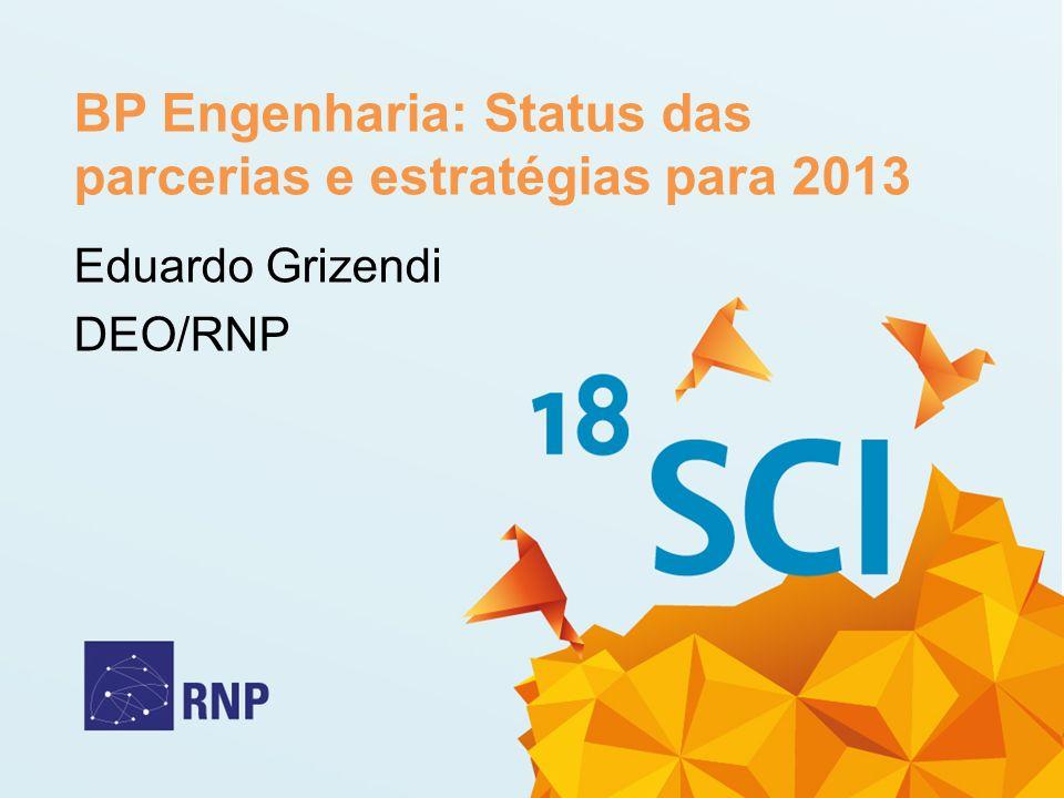 BP Engenharia: Status das parcerias e estratégias para 2013 Eduardo Grizendi DEO/RNP