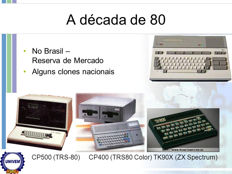 Apple Computers Apple III (1980) Codename: Sara 8 bit, 2 MHz, max mem 256kb, max resolução 1 bit (Preto e Branco) a 590x192, unidade de disco