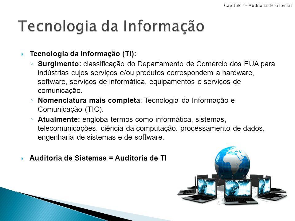 Tecnologia da Informação (TI): Surgimento: classificação do Departamento de Comércio dos EUA para indústrias cujos serviços e/ou produtos correspondem a hardware, software, serviços de informática, equipamentos e serviços de comunicação.