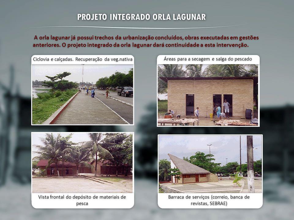 PROJETO INTEGRADO ORLA LAGUNAR A orla lagunar já possui trechos da urbanização concluídos, obras executadas em gestões anteriores. O projeto integrado