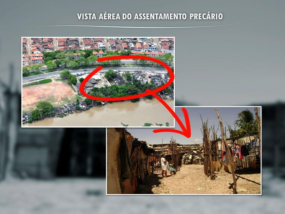VISTA AÉREA DO ASSENTAMENTO PRECÁRIO