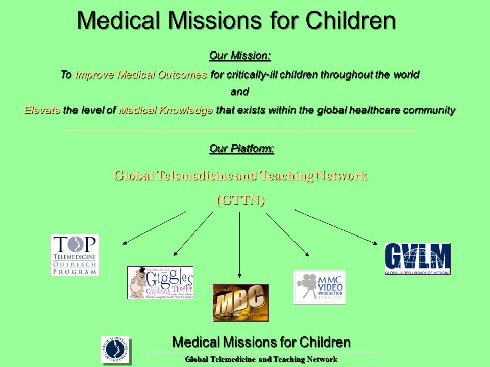 Global Telemedicine and Teaching Network (GTTN) Medical Missions for Children Global Telemedicine and Teaching Network Medical Missions for Children O