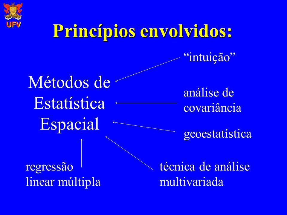 Métodos de Estatística Espacial geoestatística técnica de análise multivariada regressão linear múltipla intuição análise de covariância Princípios en