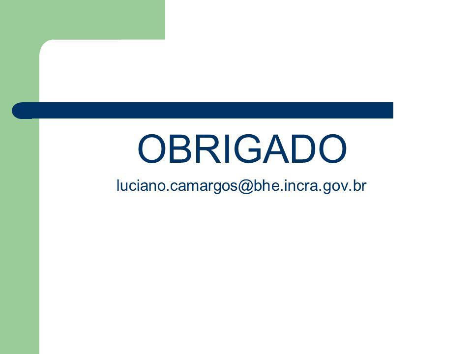 OBRIGADO luciano.camargos@bhe.incra.gov.br