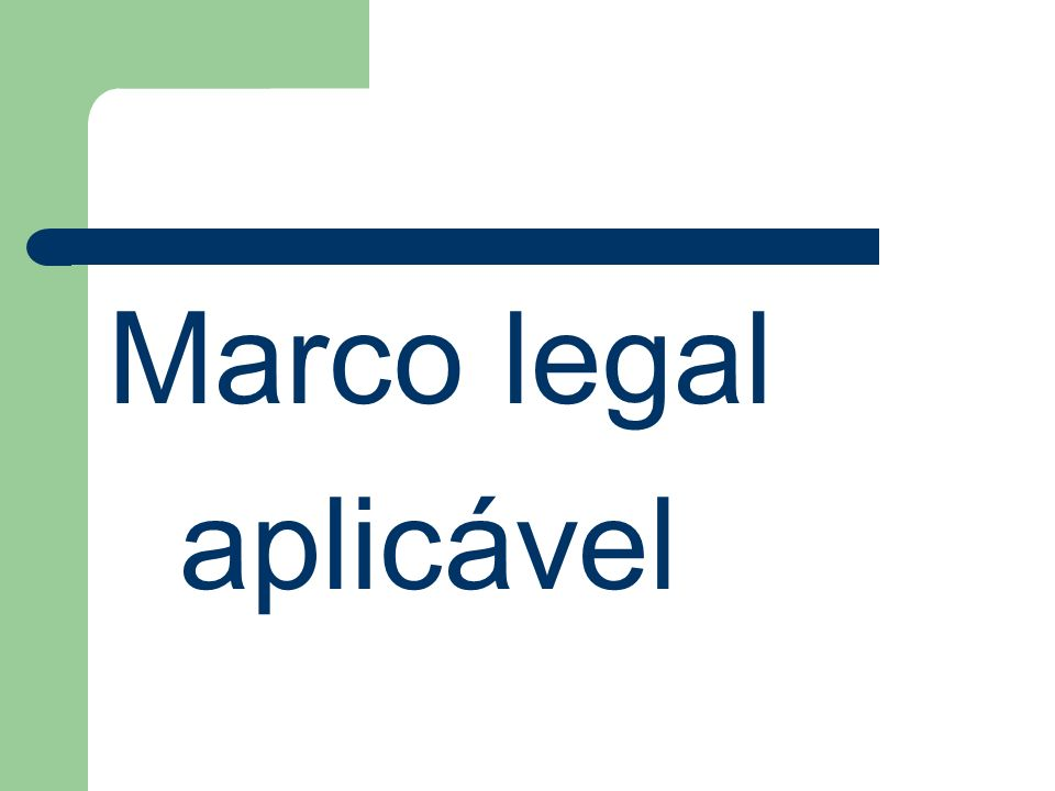 Marco legal aplicável