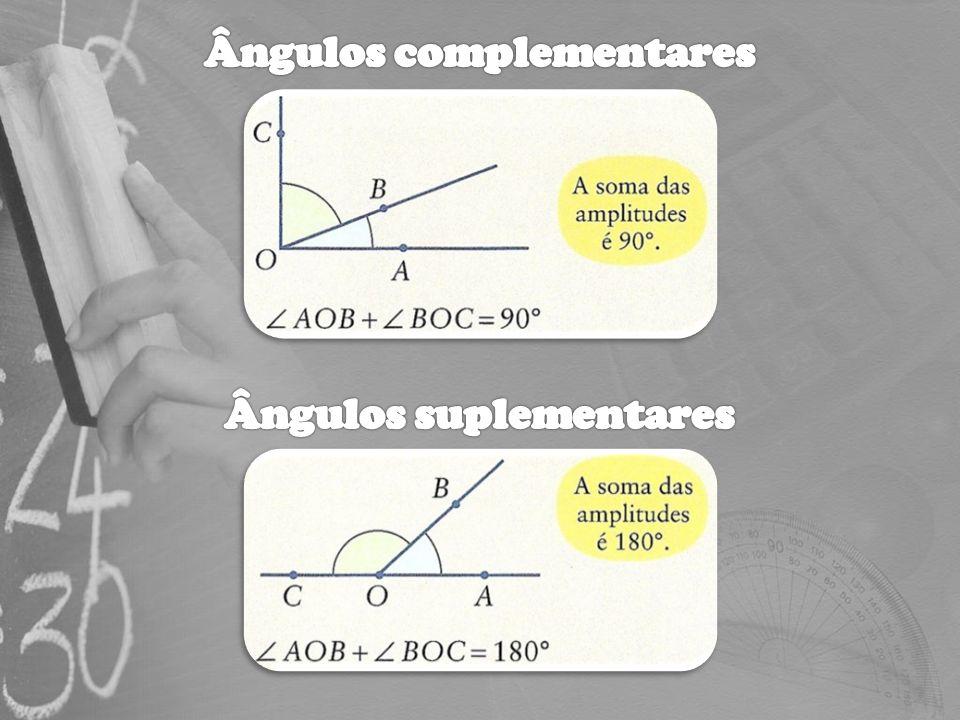 A soma das amplitudes dos ângulos externos de qualquer triângulo é igual a 360 º.